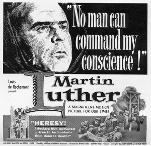 movie Luther 1953 poster