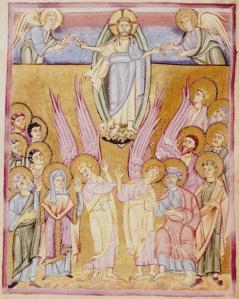 Ascension - Seeon Sacramentary-Monestary of Seeon - Bavaria - 1020-1050 Crop